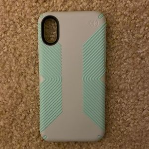 Speck iPhone X (10) case - teal and grey